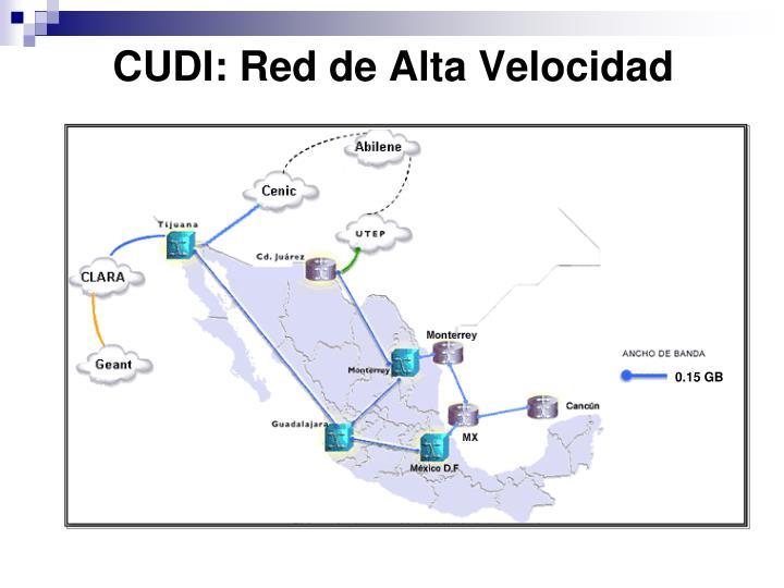 CUDI: Red de Alta Velocidad