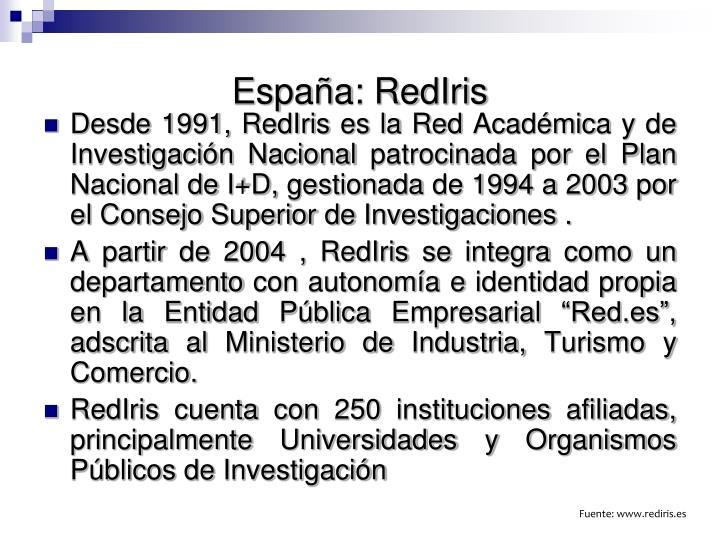 España: RedIris
