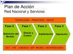 plan de acci n red nacional y servicios