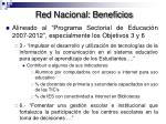 red nacional beneficios