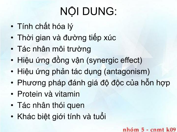 NỘI DUNG: