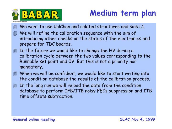 Medium term plan