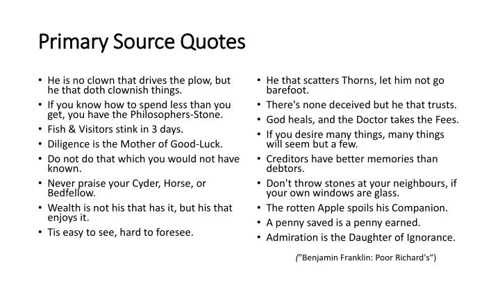 Primary Source Quotes