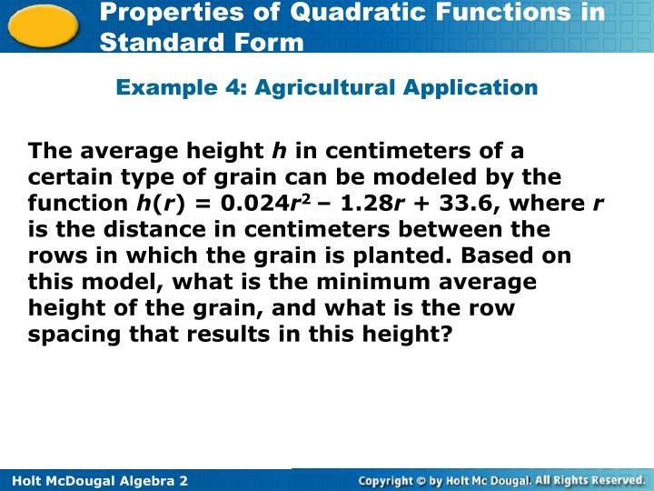 Example 4: Agricultural Application