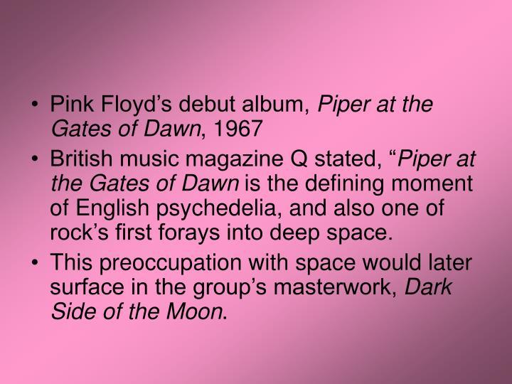 Pink Floyd's debut album,