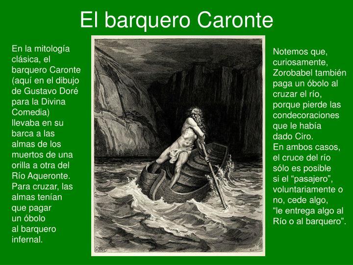 El barquero Caronte