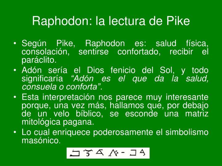 Raphodon: la lectura de Pike