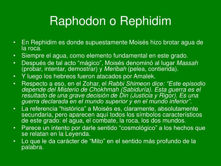 Raphodon o Rephidim