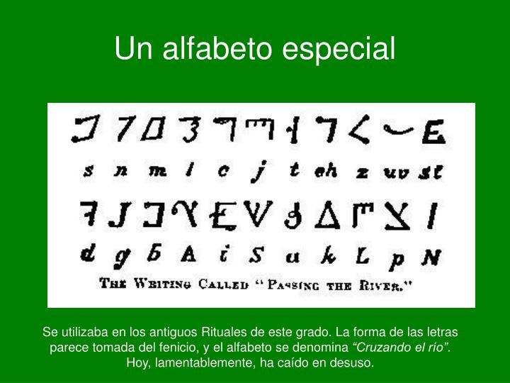 Un alfabeto especial