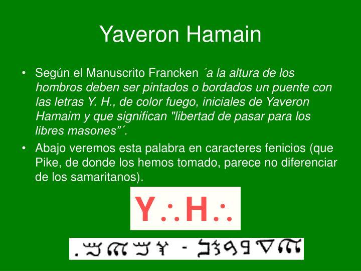 Yaveron Hamain