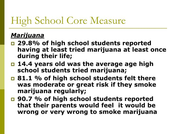 High School Core Measure