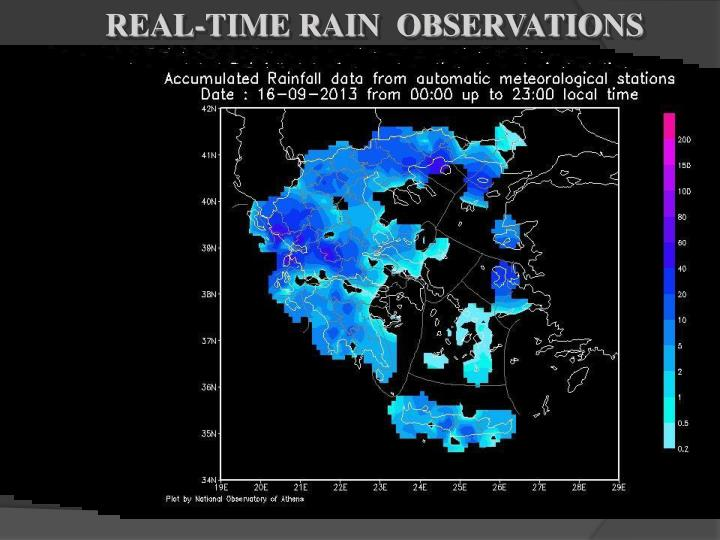REAL-TIME RAIN  OBSERVATIONS