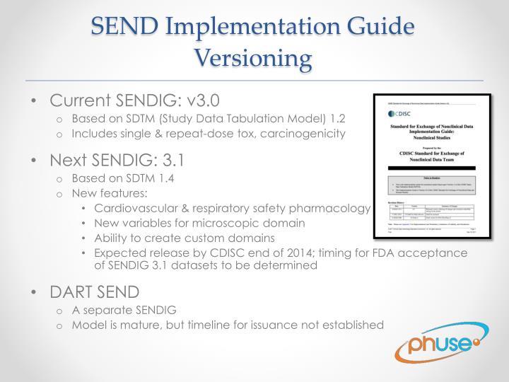 SEND Implementation Guide Versioning