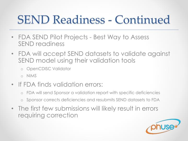 SEND Readiness - Continued