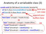 anatomy of a serializable class 3