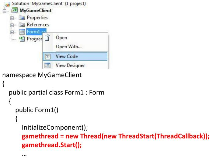 namespace MyGameClient