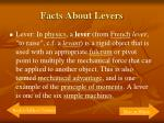 facts about levers