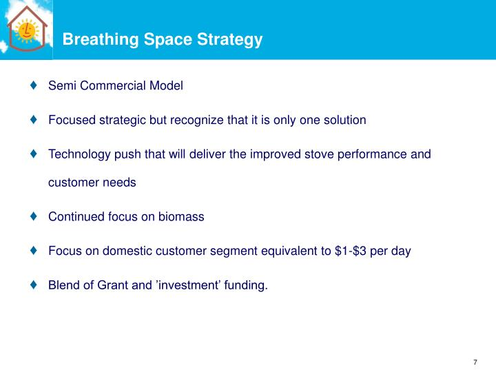 Breathing Space Strategy