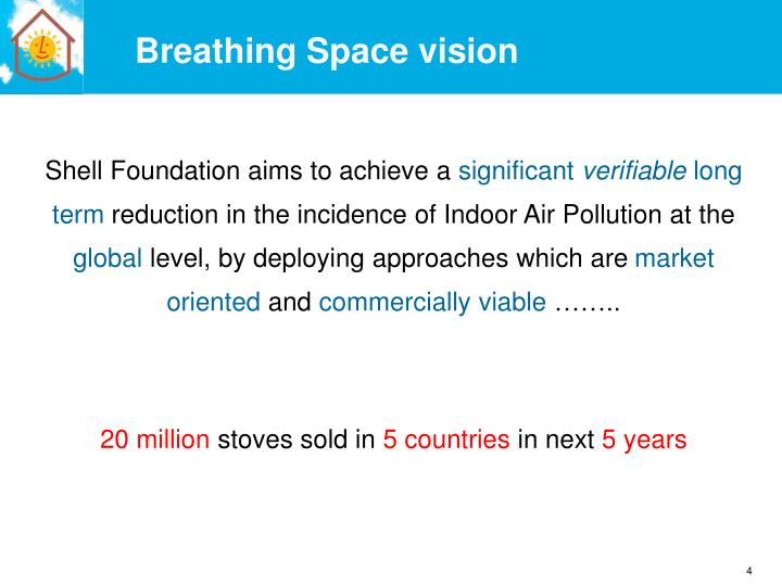 Breathing Space vision