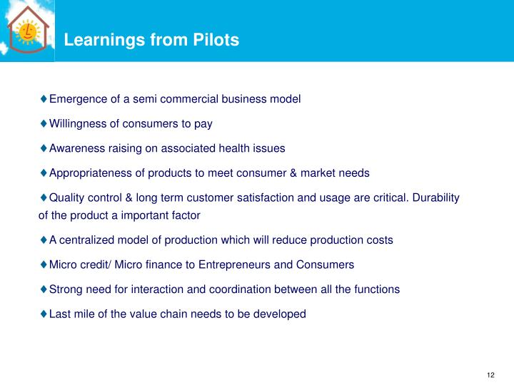 Learnings from Pilots