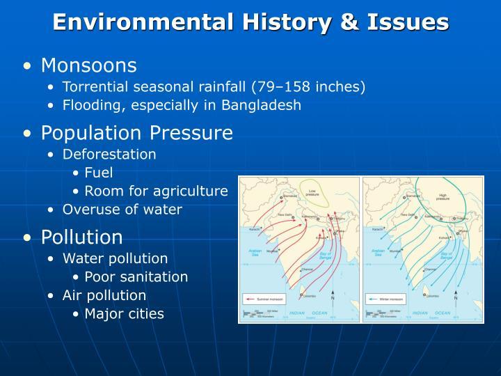 Environmental History & Issues