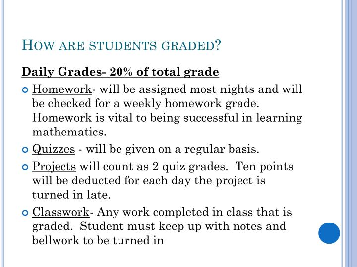 How are students graded?