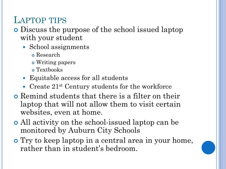 Laptop tips