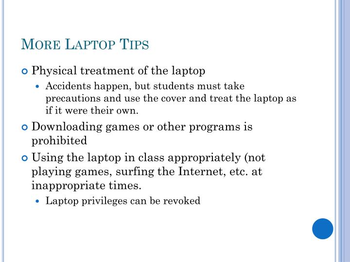 More Laptop Tips
