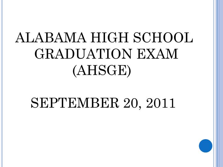 ALABAMA HIGH SCHOOL