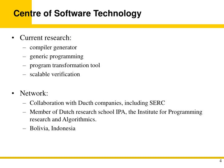 Centre of Software Technology