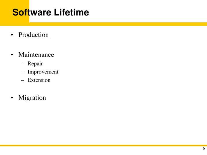 Software Lifetime