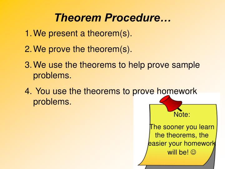 Theorem Procedure…