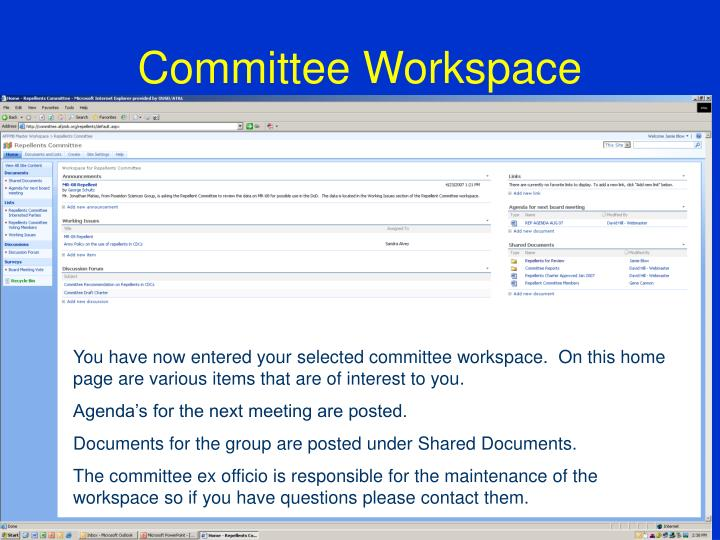 Committee Workspace