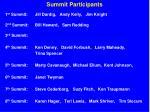 summit participants