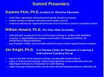 summit presenters