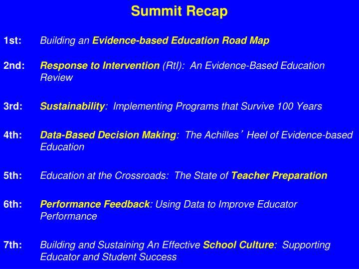 Summit Recap