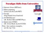 paradigm shifts from universities