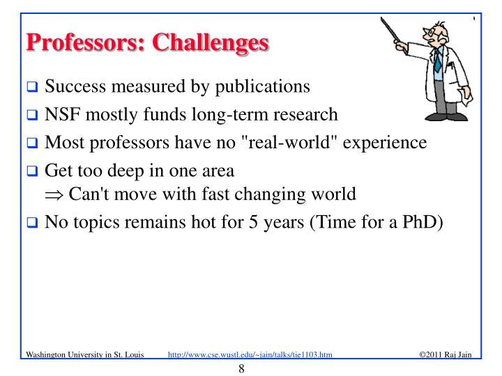 Professors: Challenges