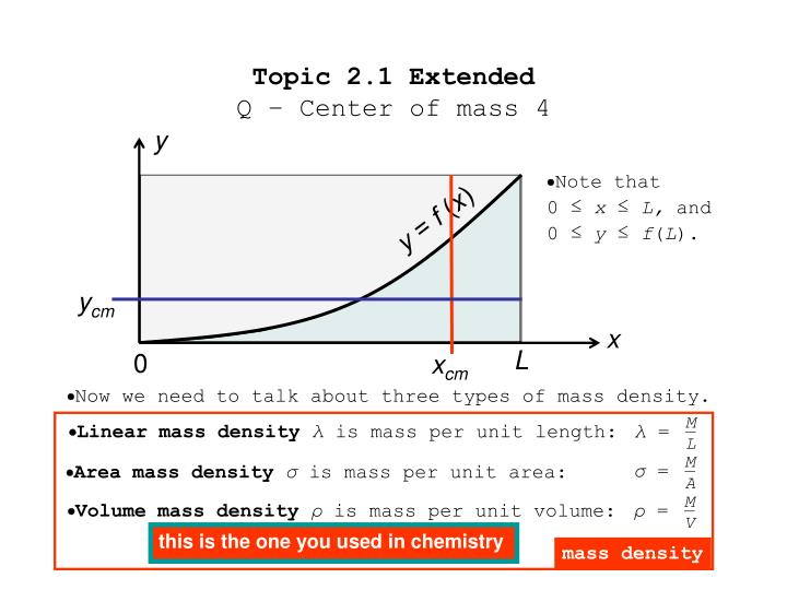 Topic 2 1 extended q center of mass 41