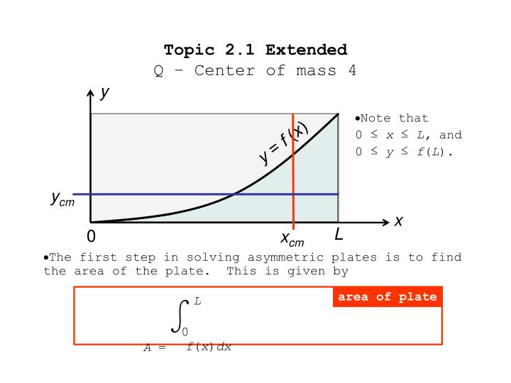 Topic 2 1 extended q center of mass 42
