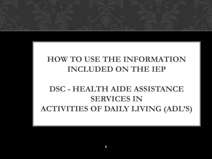 HOW TO USE THE INFORMATION