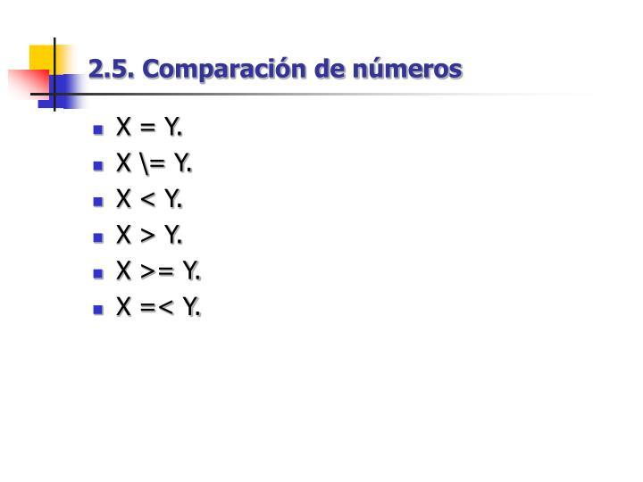 2.5. Comparación de números