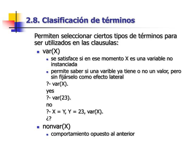 2.8. Clasificación de términos