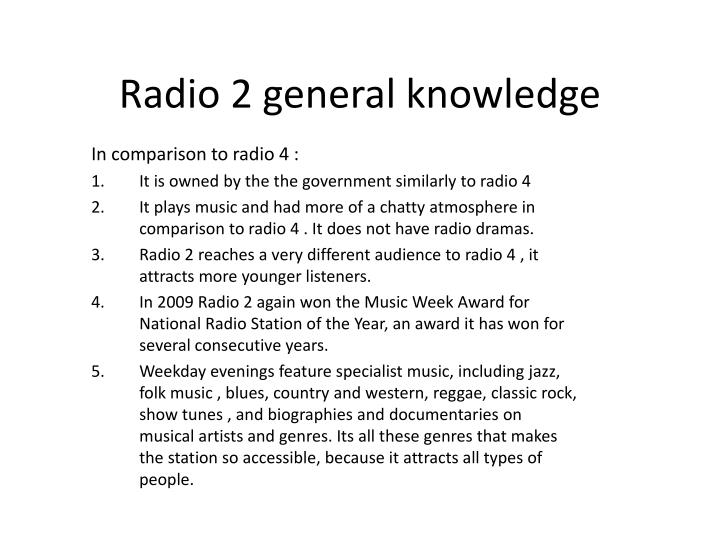Radio 2 general knowledge