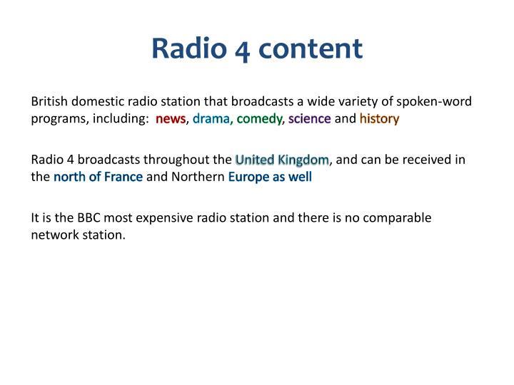 Radio 4 content
