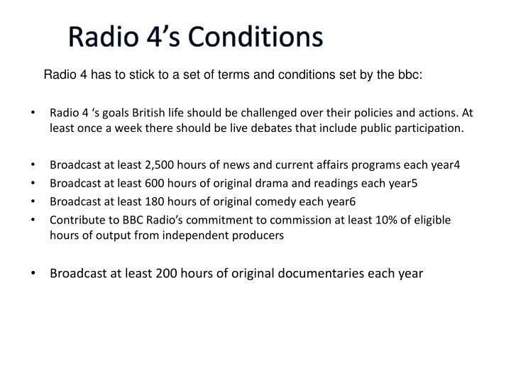 Radio 4's Conditions