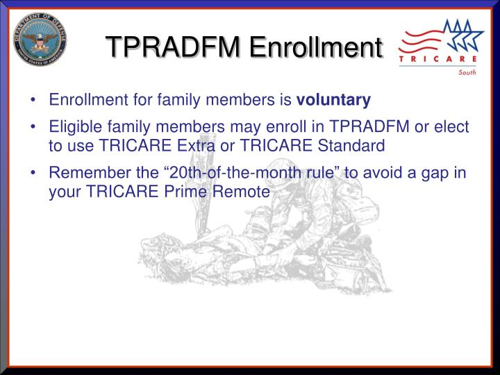 TPRADFM Enrollment