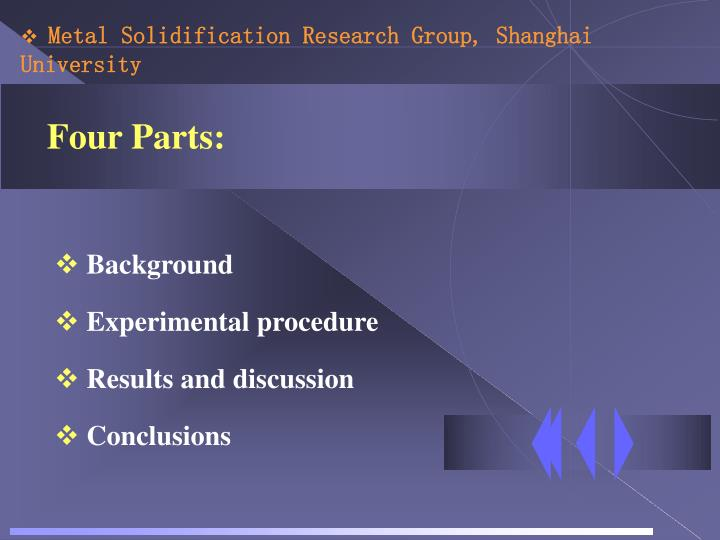 Metal Solidification Research Group, Shanghai University