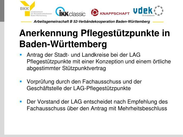 Anerkennung Pflegestützpunkte in Baden-Württemberg
