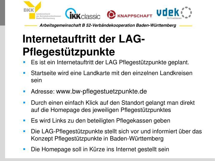 Internetauftritt der LAG-Pflegestützpunkte